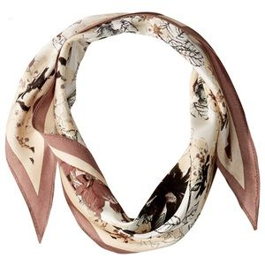 Vince Camuto Fall Flora 100% Silk Kite Scarf NWT